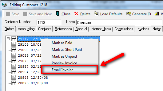 Custom Carbon Copy Invoices Pdf How To Email Invoices Kb  Customers And Partners Portal To Invoice Pdf with Truck Invoice Price To Email A Single Invoice Follow The Same Rightclick Menu Steps As Above  But Choose Either Single Invoices From The Invoice Center Or Select An  Invoice  Free Printable Rent Receipts Excel
